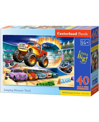 Puzzle Castorland - Jumping Monster Truck, 40 piese XXL (040308)