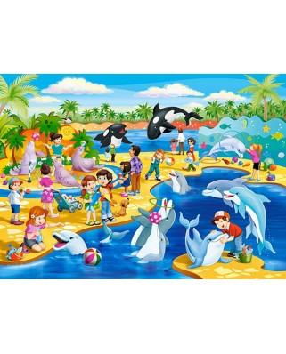 Puzzle Castorland - Dolphinarium, 60 piese (066148)
