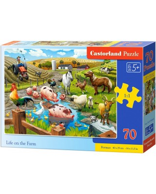 Puzzle Castorland - Life on the Farm, 70 piese (070060)