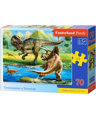 Puzzle Castorland - Dinosaurs, 70 piese (070084)
