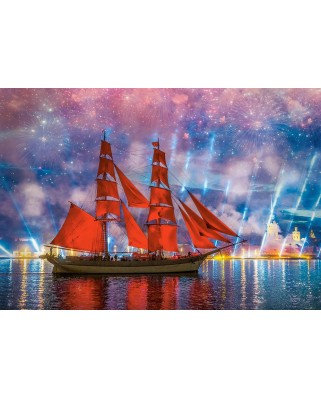 Puzzle Castorland - Red Frigate, 1.000 piese (104482)