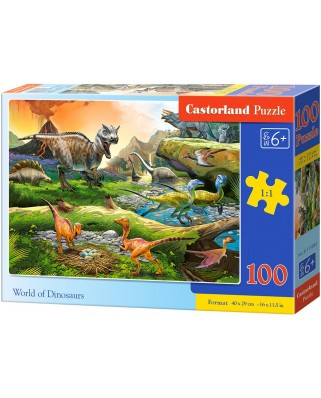 Puzzle Castorland - World of Dinosaurs, 100 piese (111084)