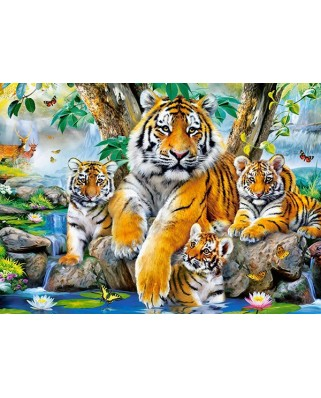 Puzzle Castorland - Tigers by the Stream, 120 piese (13517)