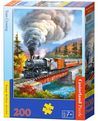Puzzle Castorland - Train Crossing, 200 piese (222070)