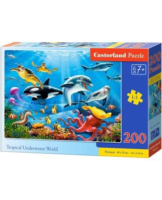 Puzzle Castorland - Tropical Underwater World, 200 piese (222094)