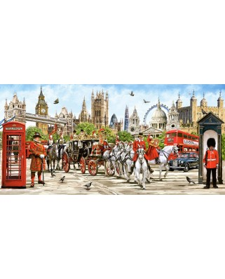 Puzzle panoramic Castorland - Pride of London, 4.000 piese (400300)