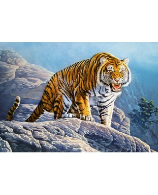 Puzzle Castorland - Tiger on the Rocks, 500 piese (53346)