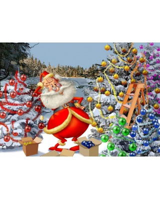Puzzle Bluebird - Francois Ruyer: Christmas Countdown!, 500 piese (70296)