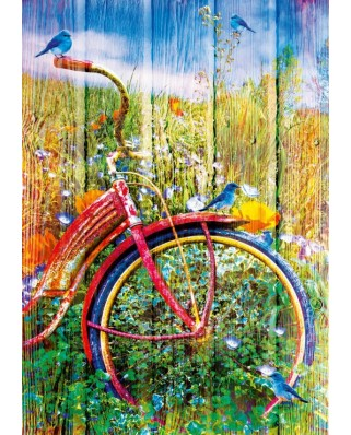 Puzzle Bluebird - Bluebirds on a Bicycle, 1.000 piese (70300-P)