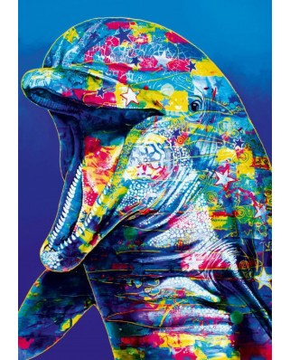 Puzzle Bluebird - Dolphin, 1000 piese (70302-P)