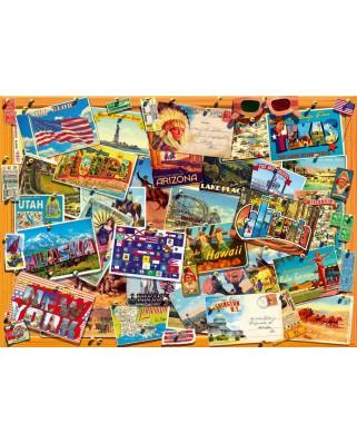 Puzzle Bluebird - Postcard (USA), 1.000 piese (70309-P)
