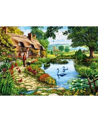 Puzzle Bluebird - Cottage by the Lake, 1.000 piese (70315-P)
