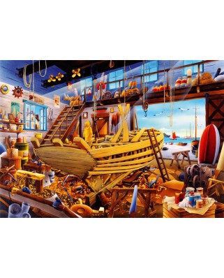 Puzzle Bluebird - Boat Yard, 1.000 piese (70316-P)