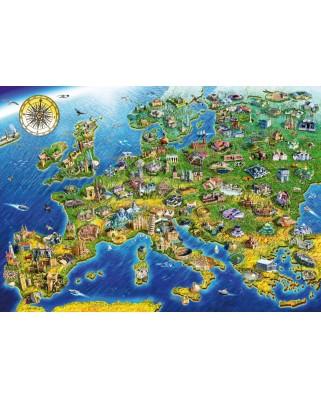 Puzzle Bluebird - Adrian Chesterman: European Landmarks, 1.000 piese (70322-P)