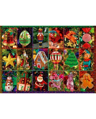 Puzzle Bluebird - Festive Ornaments, 1.000 piese (70325-P)