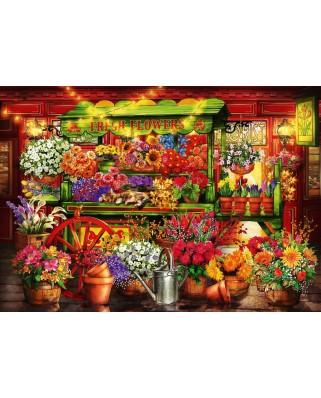 Puzzle Bluebird - Marchetti Ciro: Flower Market Stall, 1.000 piese (70333-P)