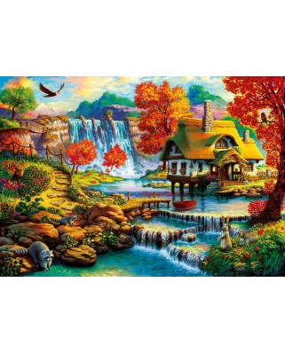 Puzzle Bluebird - Country House by the Water Fall, 1.000 piese (70339-P)