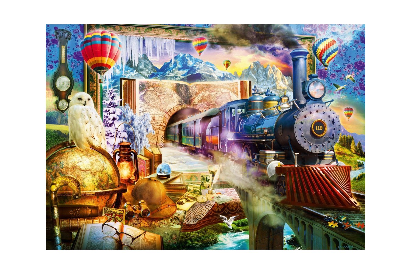 Puzzle Bluebird - Magical Journey, 1.000 piese (70343-P)