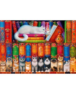 Puzzle Bluebird - Cat Bookshelf, 1.000 piese (70344-P)