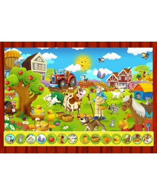 Puzzle Bluebird - Search and Find - The Toy Factory, 100 piese (70349)