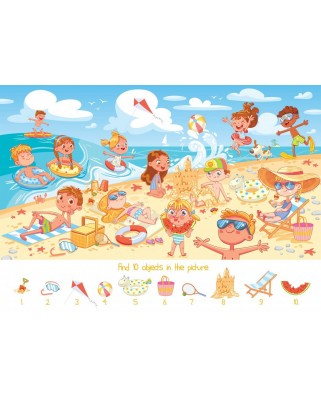 Puzzle Bluebird - Search and Find - The Beach, 100 piese (70351)