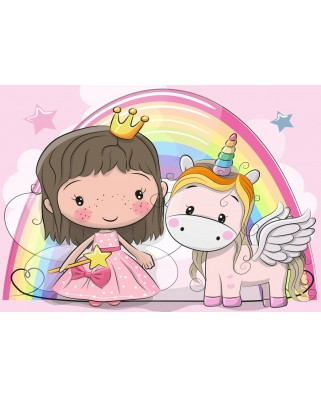 Puzzle Bluebird - The Unicorn and The Princess, 48 piese (70353)