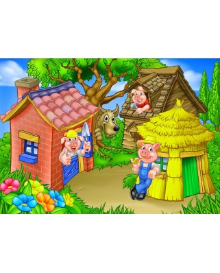 Puzzle Bluebird - The Three Little Pigs, 48 piese (70355)