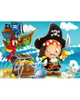 Puzzle Bluebird - The Treasure of the Pirate, 48 piese (70359)