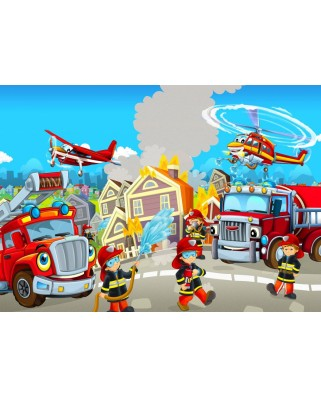 Puzzle Bluebird - Fire Rescue Team, 48 piese (70362)