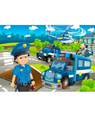 Puzzle Bluebird - Police Rescue Team, 48 piese (70363)