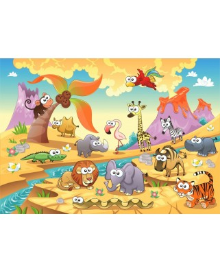 Puzzle Bluebird - Savannah Animals, 48 piese (70364)