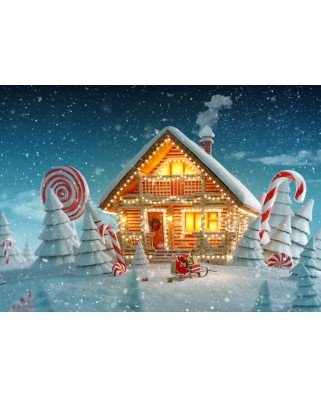 Puzzle Bluebird - Christmas Cottage, 500 piese (70365)