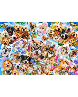 Puzzle Bluebird - Robinson Howard: Selfie Pet Collage, 260 piese (70371)