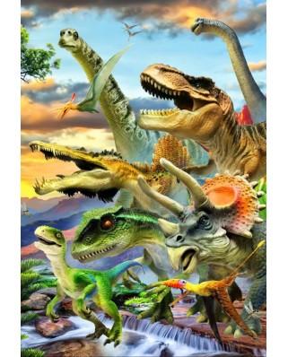 Puzzle Bluebird - Robinson Howard: Dino Sunset, 260 piese (70374)