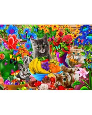 Puzzle Bluebird - Kitten Fun, 100 piese (70393)
