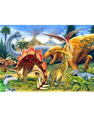 Puzzle Bluebird - Dinosaurs, 100 piese (70406)