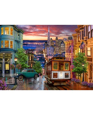Puzzle Bluebird - San Francisco Trolley, 1.000 piese (70293)