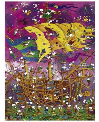 Puzzle Heye - Guillermo Mordillo: Save the Ship, 1500 piese (29924)