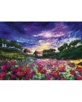 Puzzle Heye - Moy Mackay: Sundown Poppies, 1.000 piese (29917)