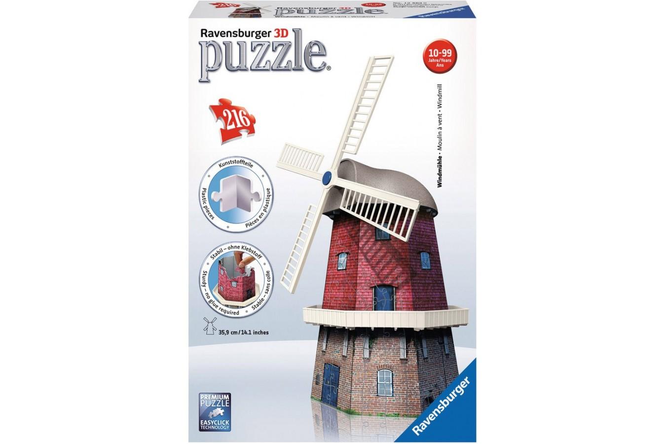 Puzzle glob Ravensburger - Moara De Vant, 216 piese (12563)