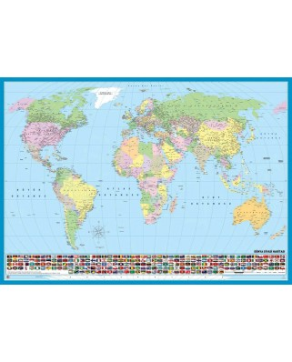 Puzzle KS Games - World map (in Turkish), 200 piese (11332)