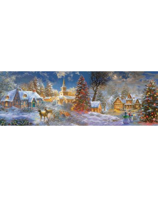 Puzzle panoramic SunsOut - The Stillness of Christmas, 500 piese XXL (19295)