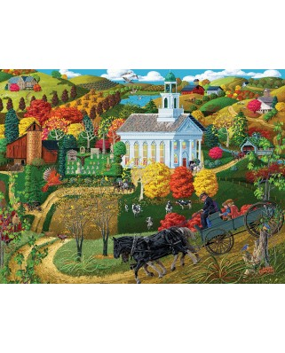 Puzzle SunsOut - A Country Church, 500 piese XXL (38761)