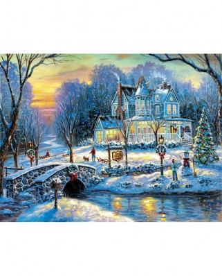 Puzzle SunsOut - A White Christmas, 300 piese XXL (60765)