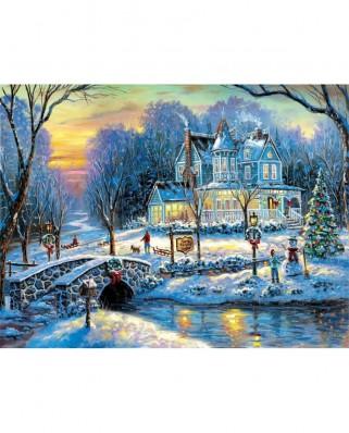 Puzzle SunsOut - A White Christmas, 300 piese XXL (Sunsout-60765)
