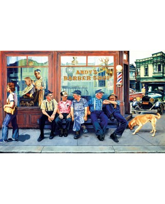 Puzzle SunsOut - Andy's Barber Shop, 300 piese XXL (25284)