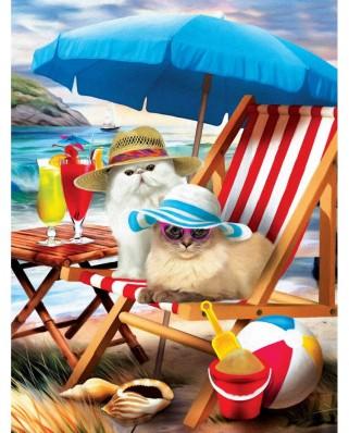 Puzzle SunsOut - Beach Cats, 300 piese XXL (Sunsout-28865)