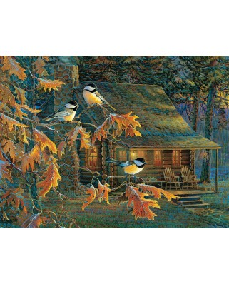 Puzzle SunsOut - Cabin Chickadees, 500 piese XXL (29034)