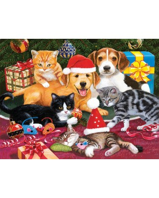 Puzzle SunsOut - Christmas Meeting, 300 piese XXL (30418)
