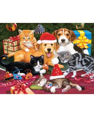 Puzzle SunsOut - Christmas Meeting, 300 piese XXL (Sunsout-30418)